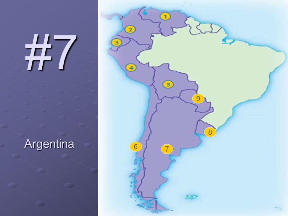 6 7 8 9 #7 Argentina