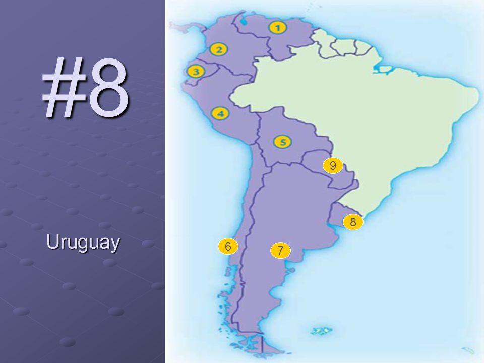 6 7 8 9 #8 Uruguay