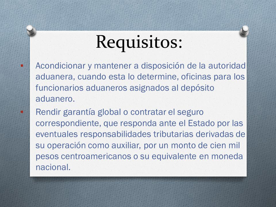 Requisitos: