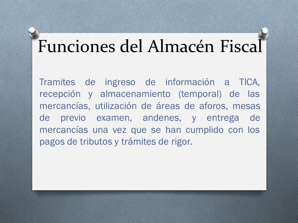 Funciones del Almacén Fiscal