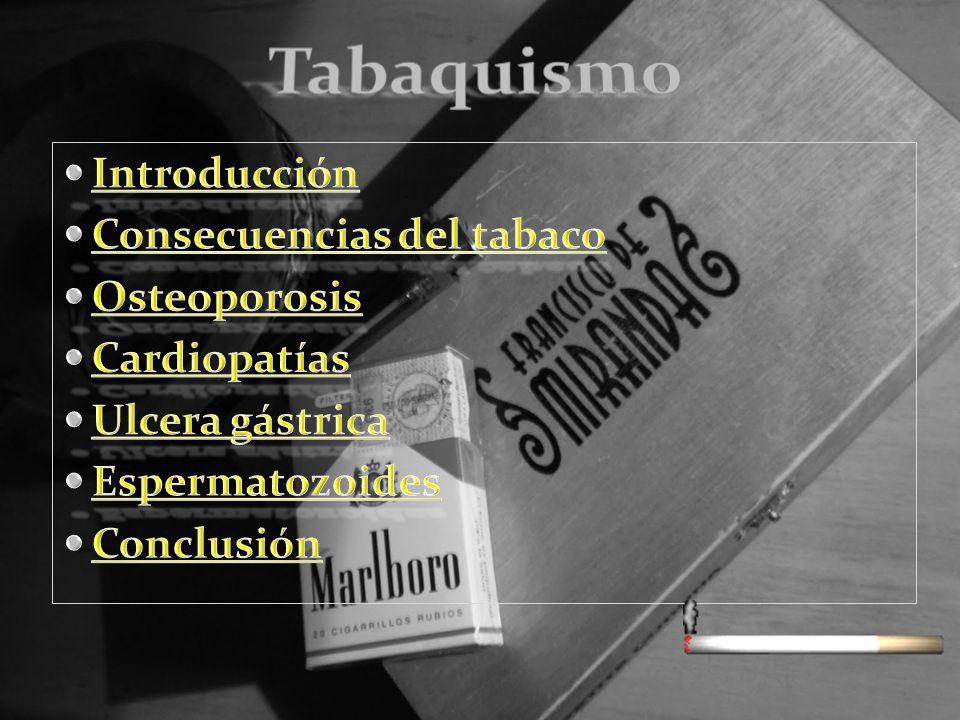 Tabaquismo Introducción Consecuencias del tabaco Osteoporosis