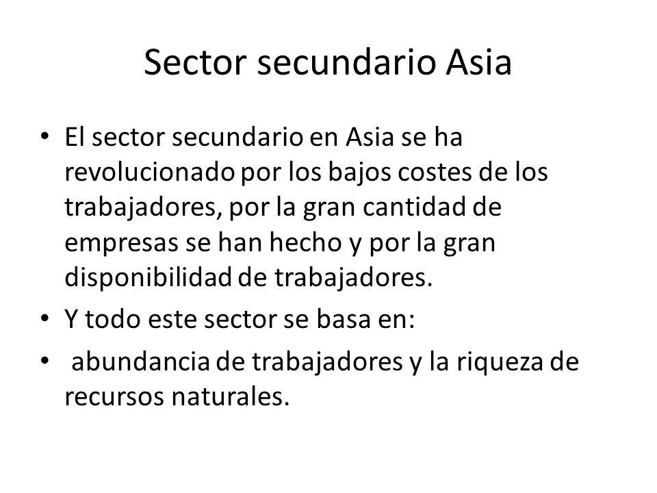 Sector secundario Asia