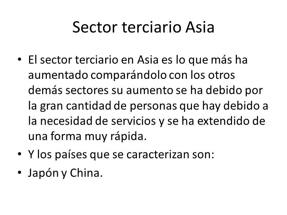 Sector terciario Asia