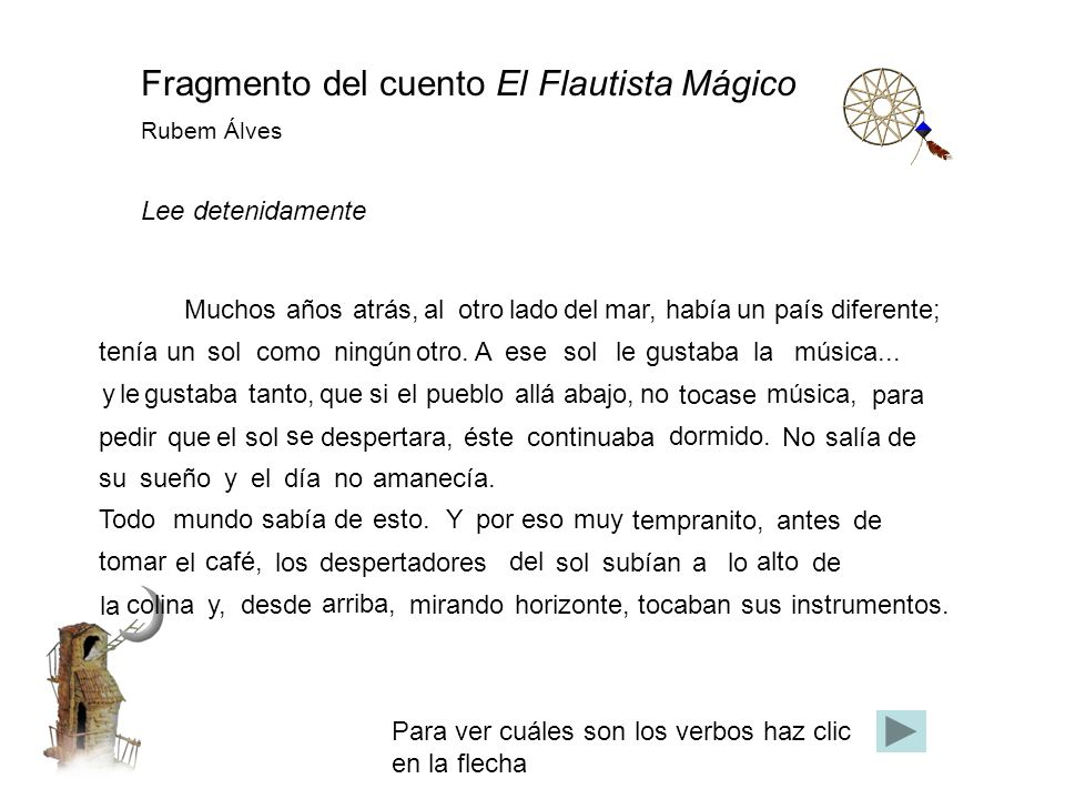 Fragmento del cuento El Flautista Mágico Rubem Álves
