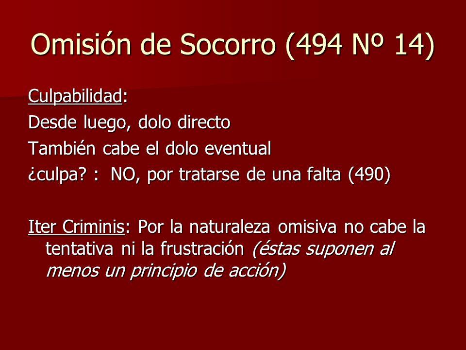 Omisión de Socorro (494 Nº 14)
