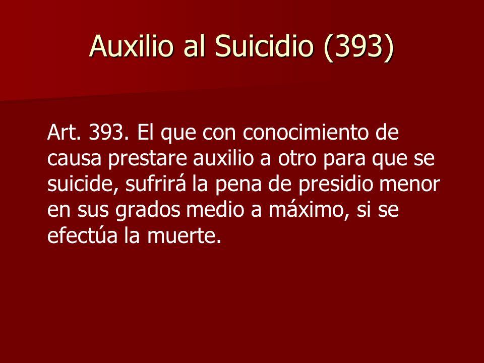 Auxilio al Suicidio (393)