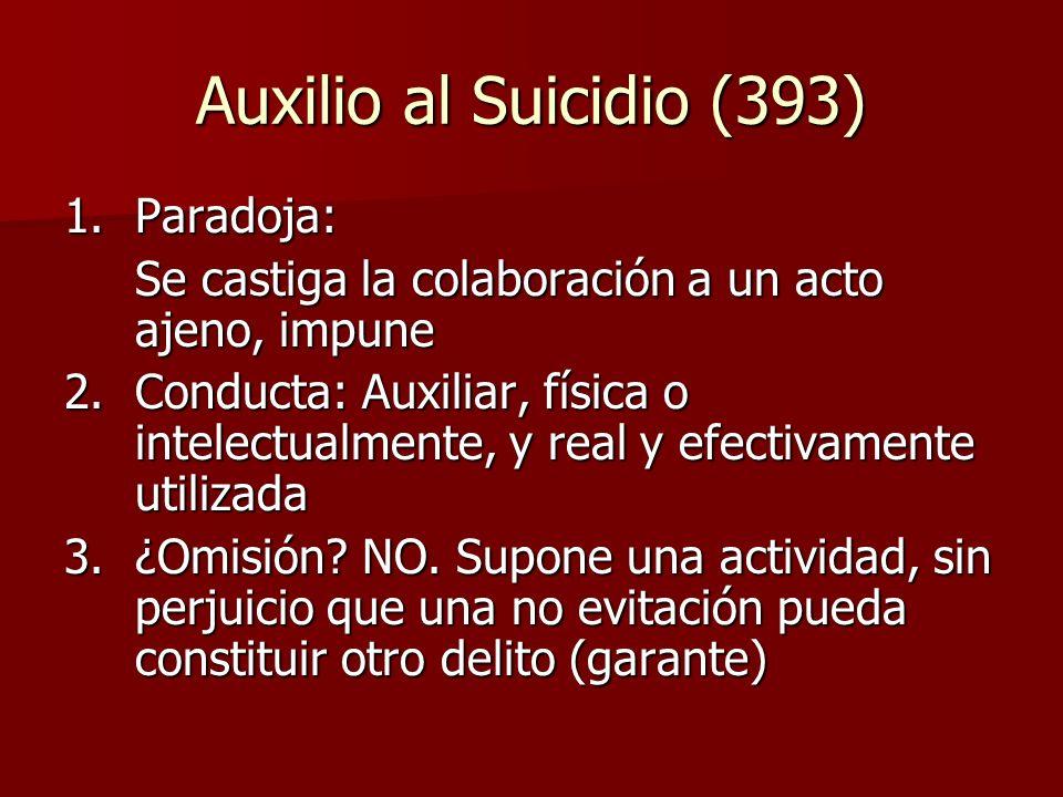 Auxilio al Suicidio (393) 1. Paradoja: