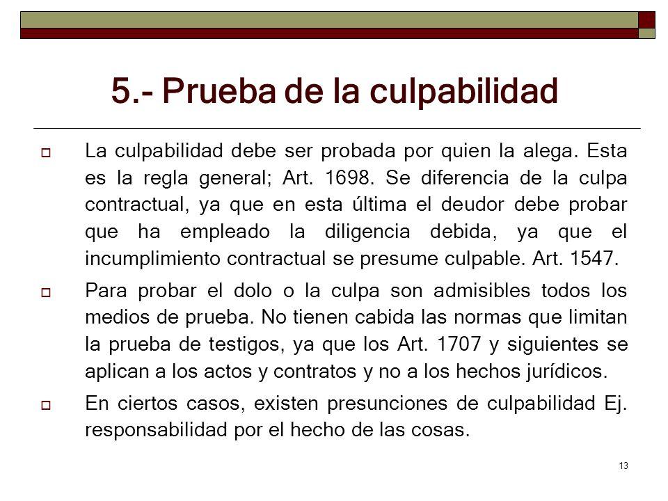 5.- Prueba de la culpabilidad