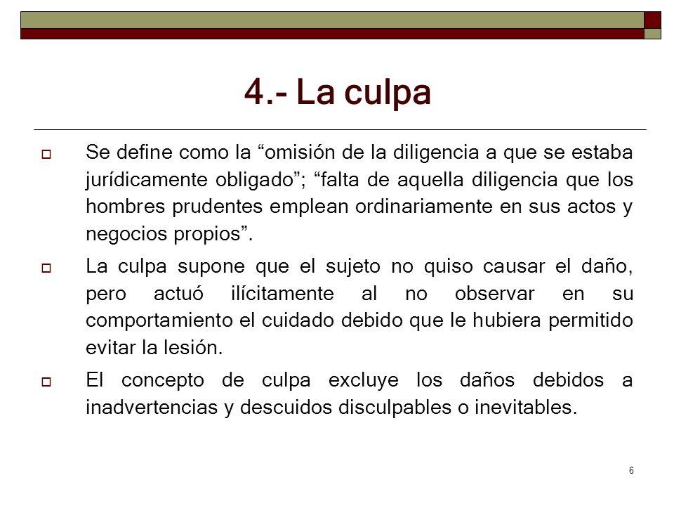 4.- La culpa