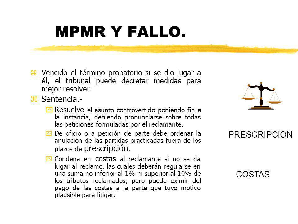 MPMR Y FALLO. Sentencia.- PRESCRIPCION COSTAS