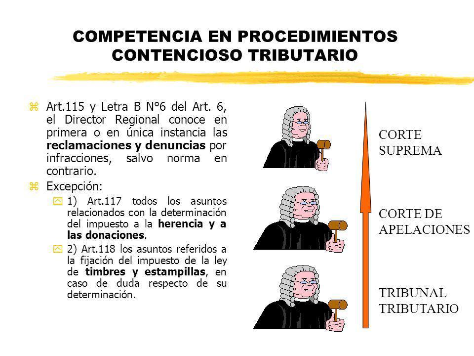 COMPETENCIA EN PROCEDIMIENTOS CONTENCIOSO TRIBUTARIO
