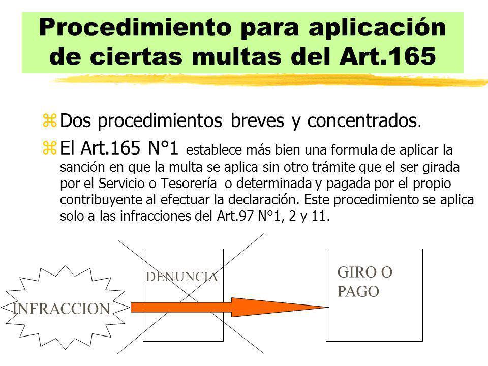 Procedimiento para aplicación de ciertas multas del Art.165