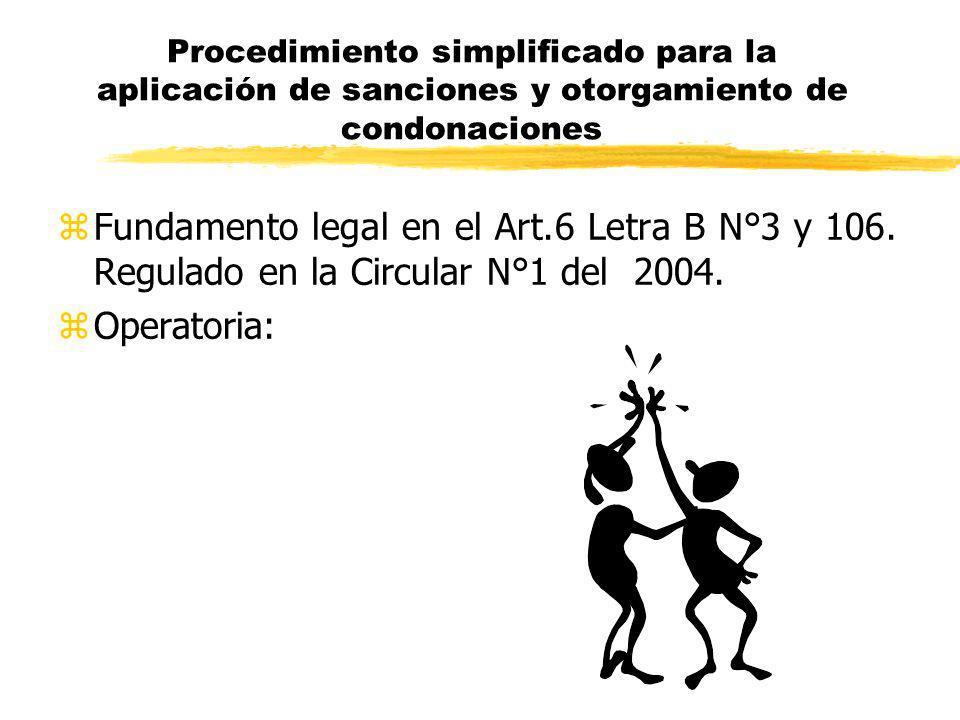 Procedimiento simplificado para la aplicación de sanciones y otorgamiento de condonaciones