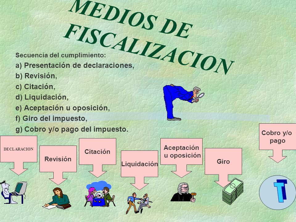 MEDIOS DE FISCALIZACION