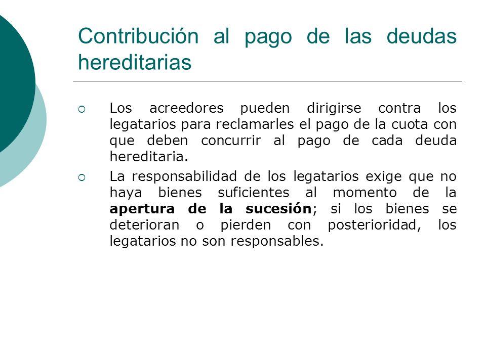 Contribución al pago de las deudas hereditarias