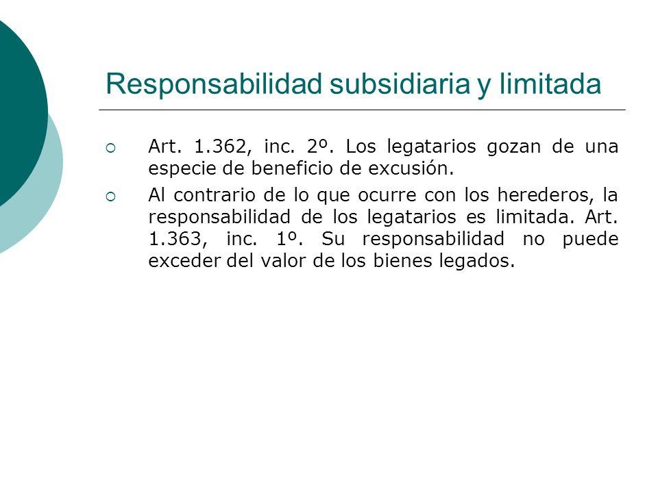 Responsabilidad subsidiaria y limitada