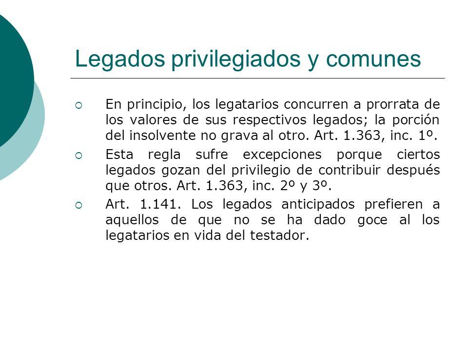 Legados privilegiados y comunes