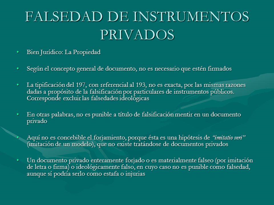 FALSEDAD DE INSTRUMENTOS PRIVADOS