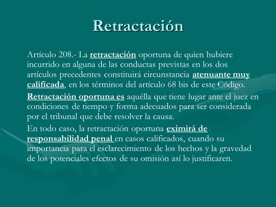 Retractación