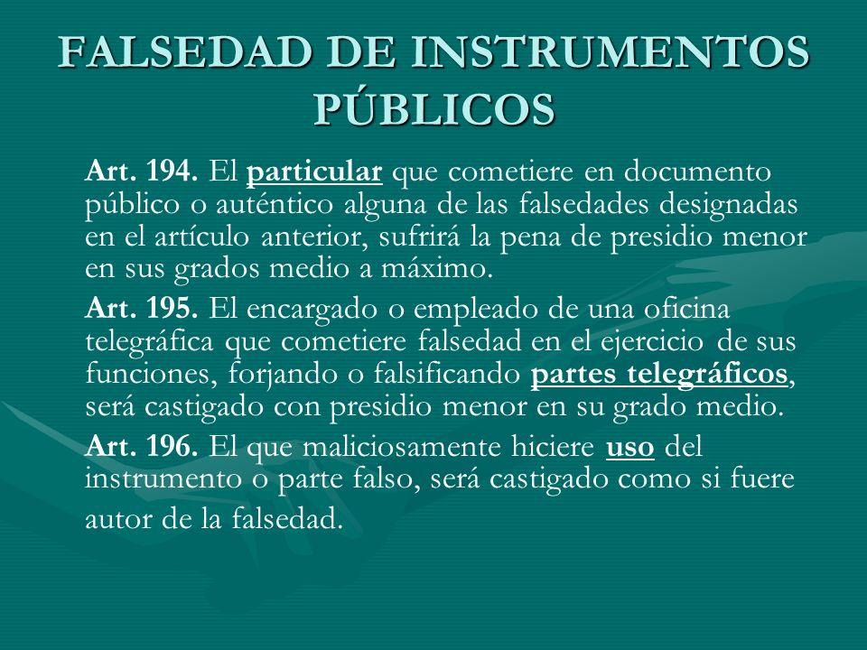 FALSEDAD DE INSTRUMENTOS PÚBLICOS