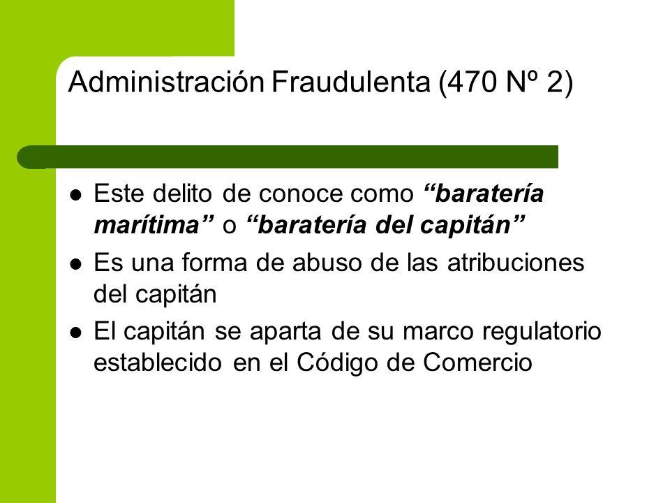 Administración Fraudulenta (470 Nº 2)