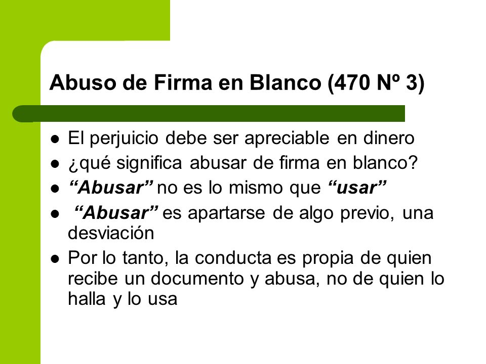 Abuso de Firma en Blanco (470 Nº 3)