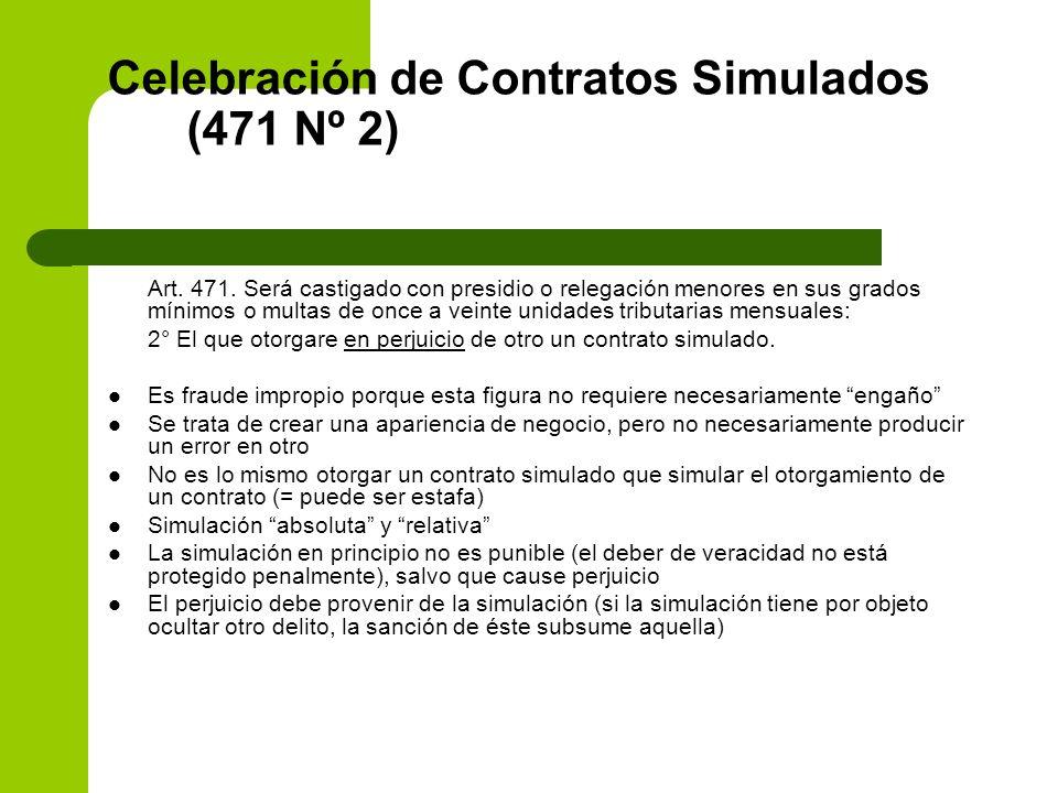 Celebración de Contratos Simulados (471 Nº 2)