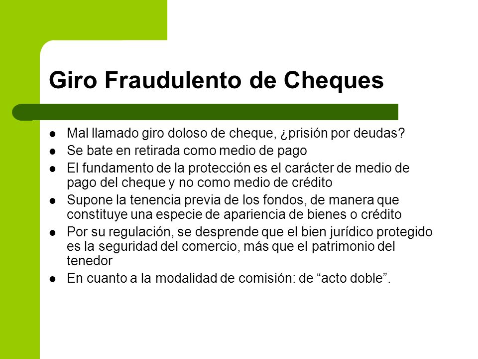 Giro Fraudulento de Cheques