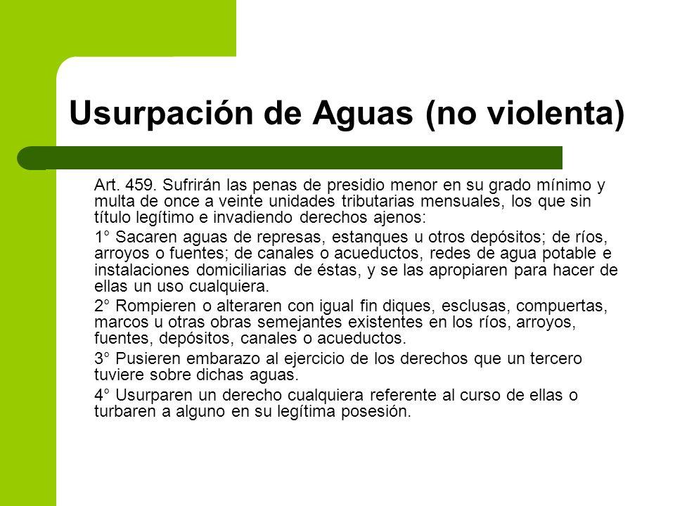 Usurpación de Aguas (no violenta)