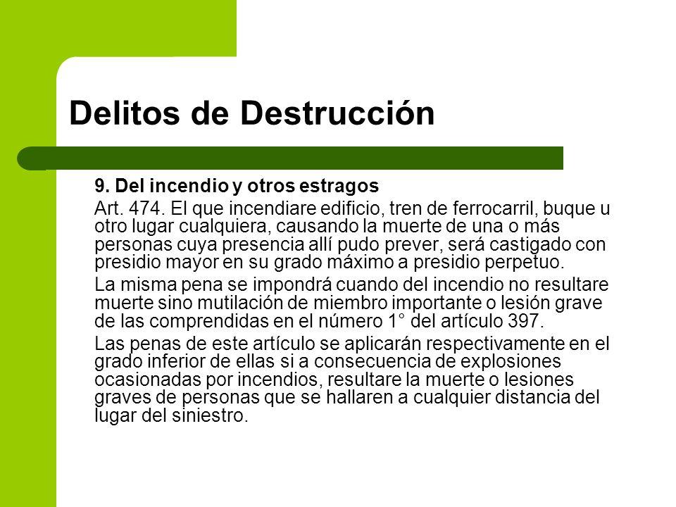Delitos de Destrucción