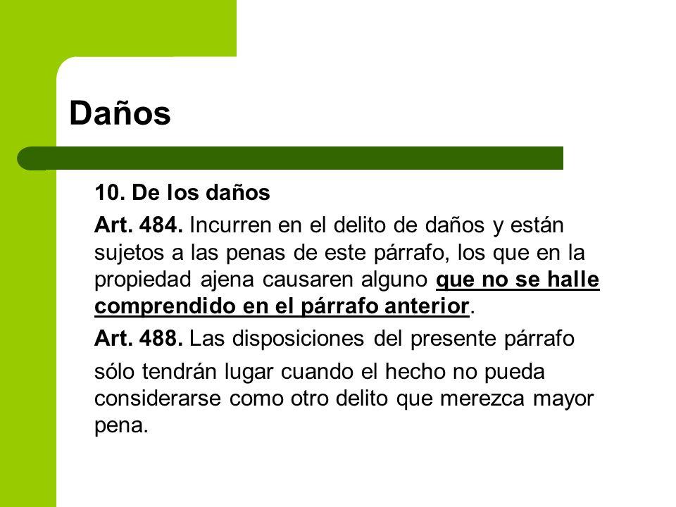 Daños 10. De los daños.
