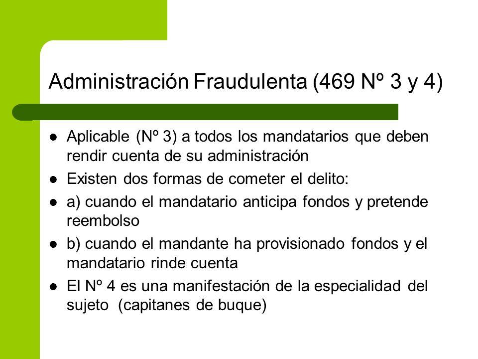 Administración Fraudulenta (469 Nº 3 y 4)