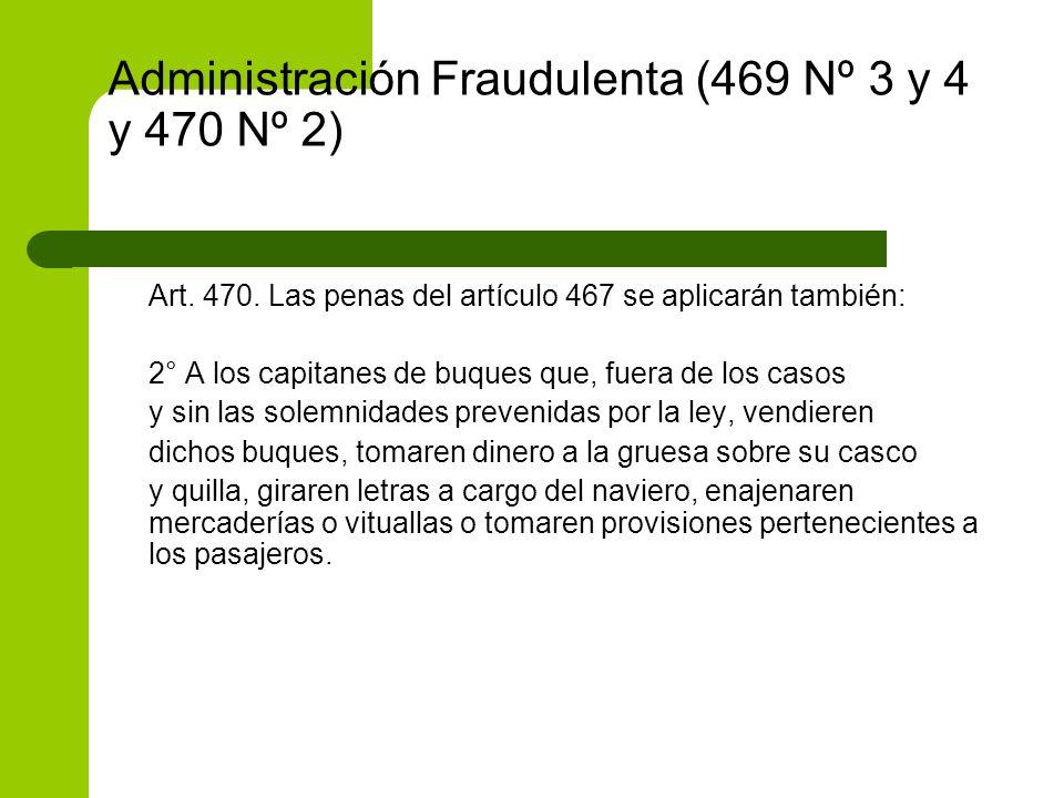 Administración Fraudulenta (469 Nº 3 y 4 y 470 Nº 2)