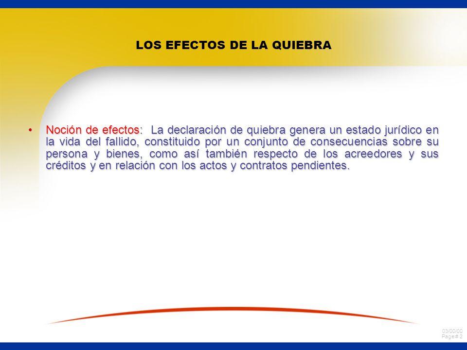 LOS EFECTOS DE LA QUIEBRA