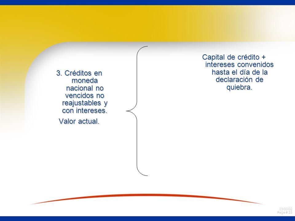 Capital de crédito + intereses convenidos hasta el día de la declaración de quiebra.