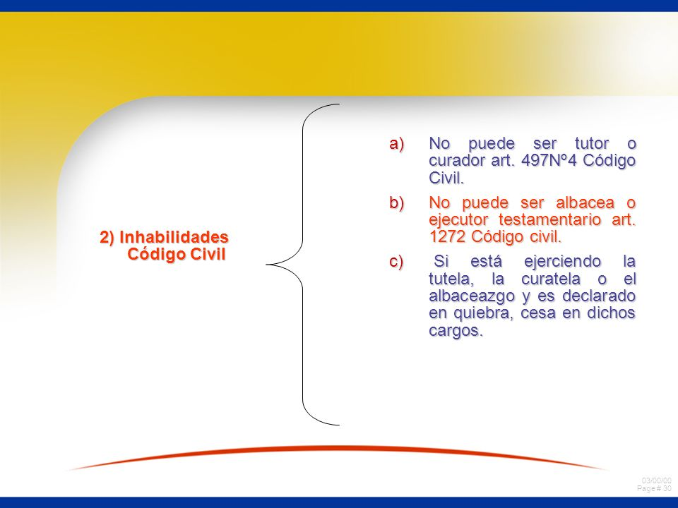 2) Inhabilidades Código Civil