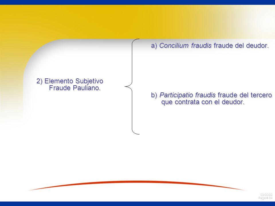 2) Elemento Subjetivo Fraude Pauliano.