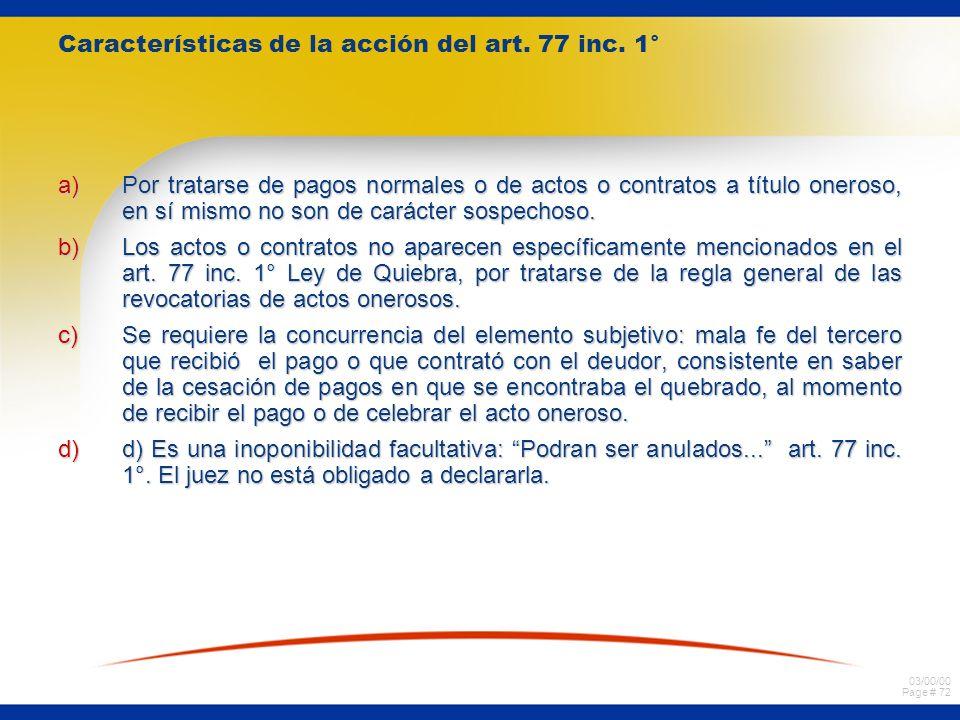 Características de la acción del art. 77 inc. 1°