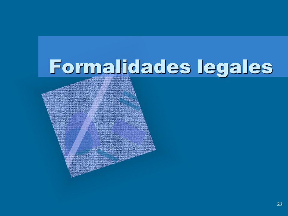 Formalidades legales