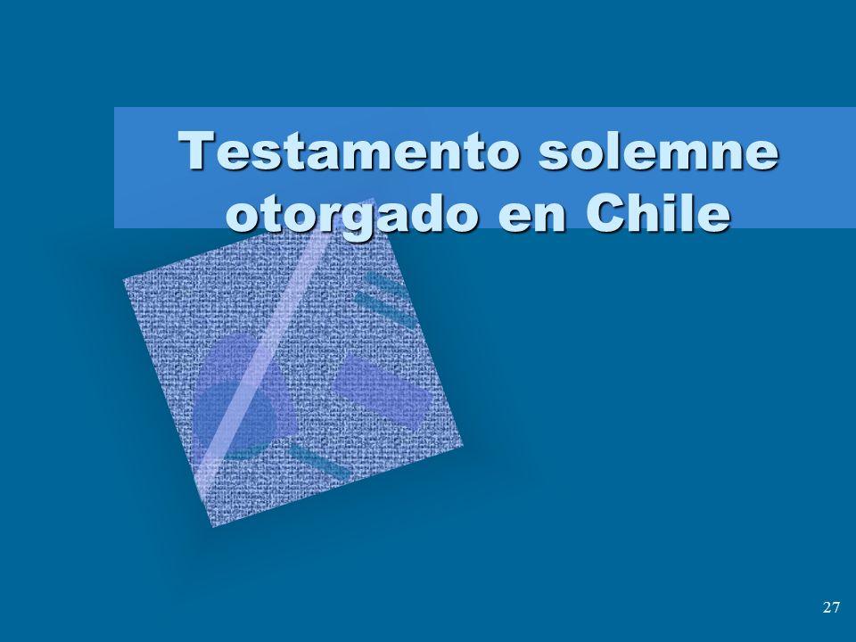 Testamento solemne otorgado en Chile