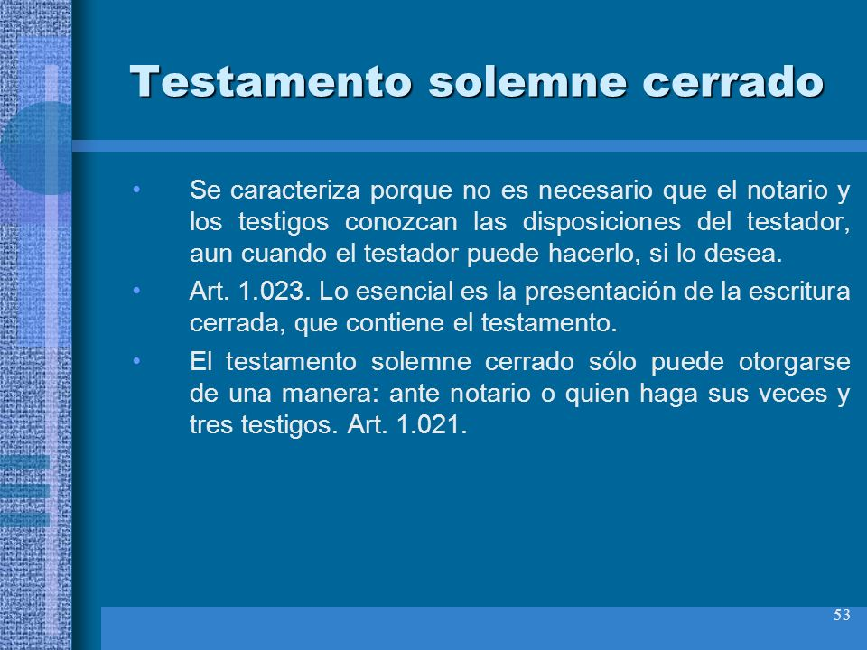 Testamento solemne cerrado