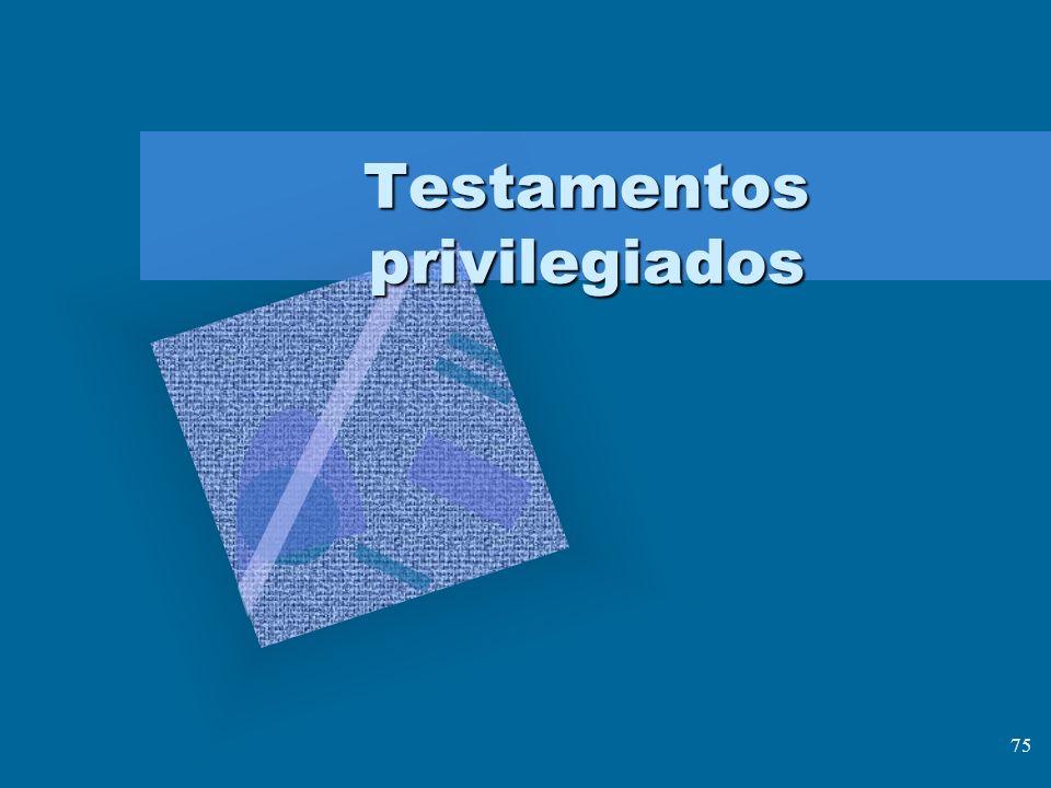 Testamentos privilegiados