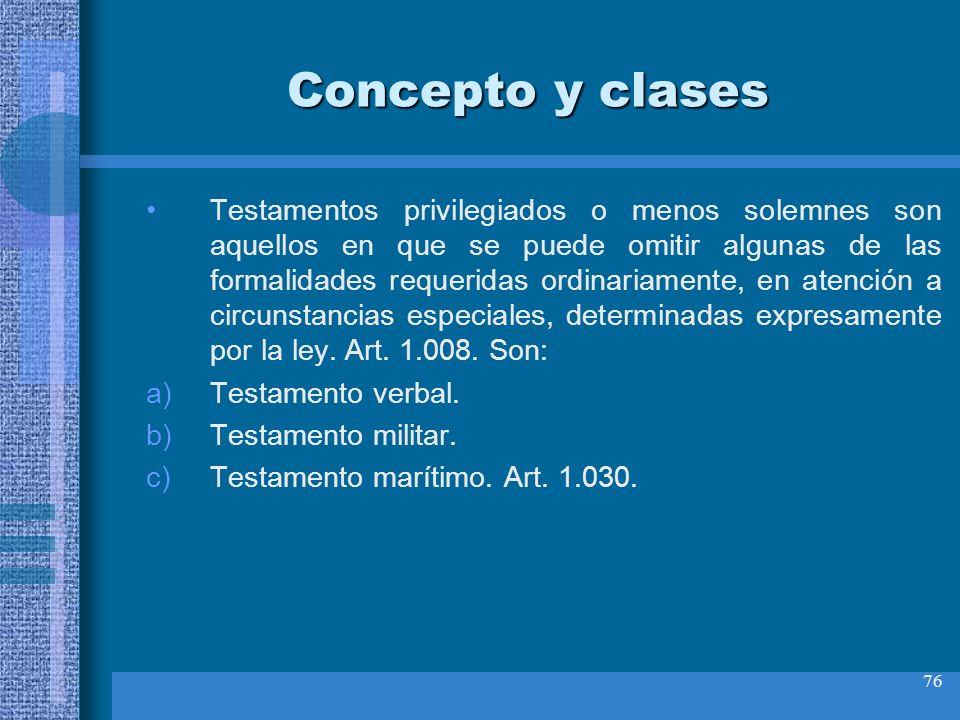 Concepto y clases