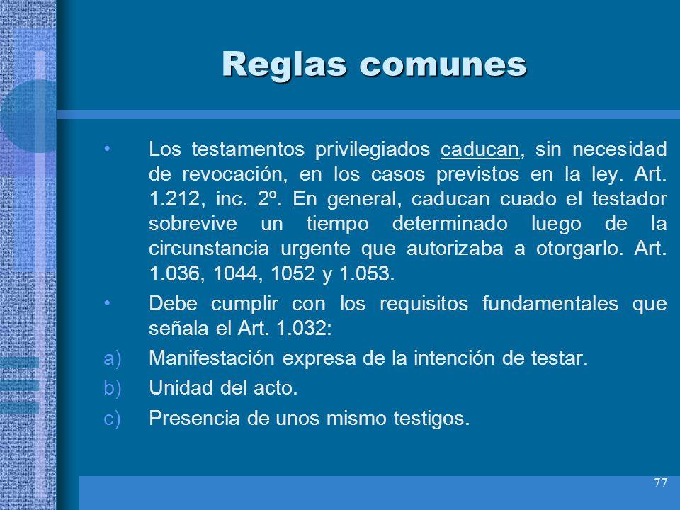 Reglas comunes