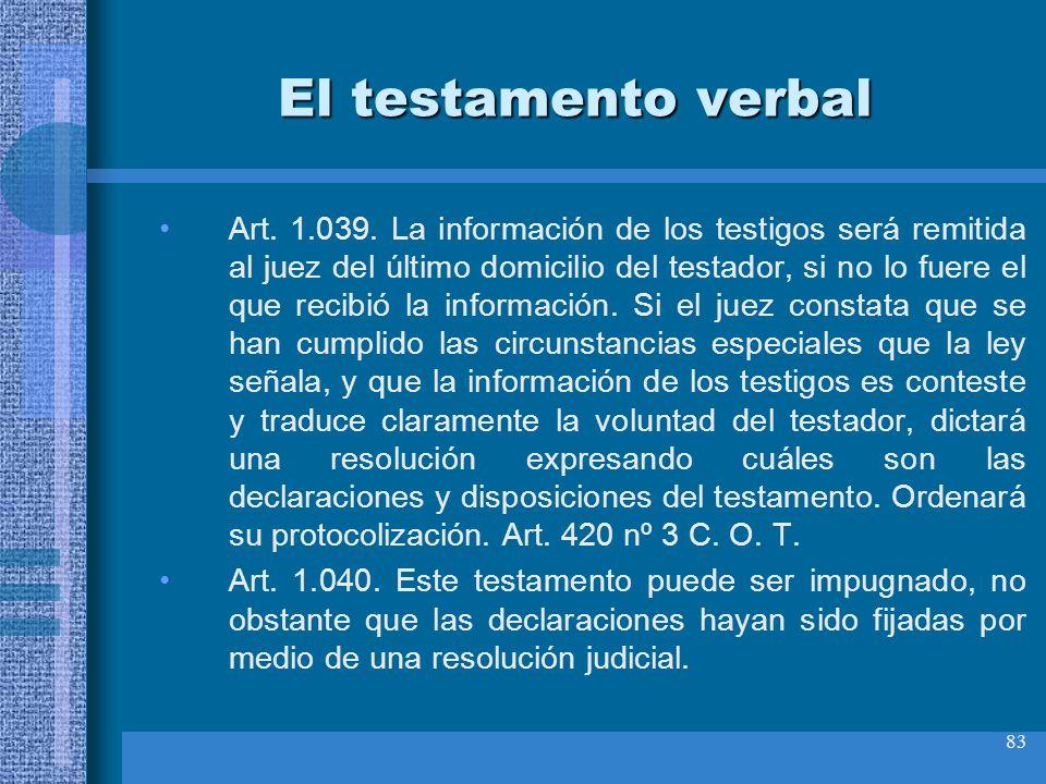 El testamento verbal
