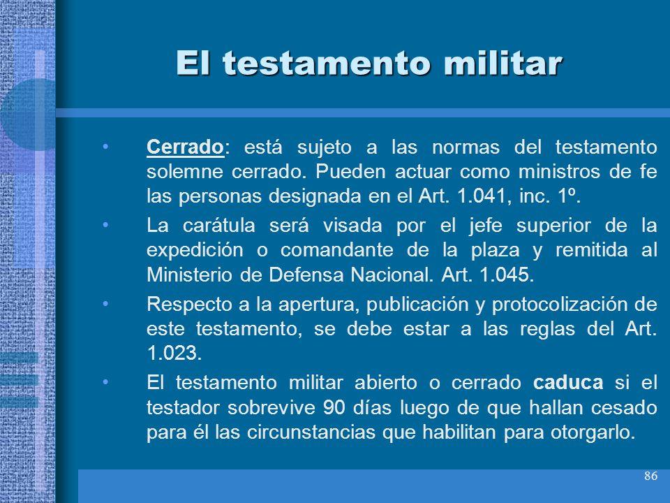 El testamento militar