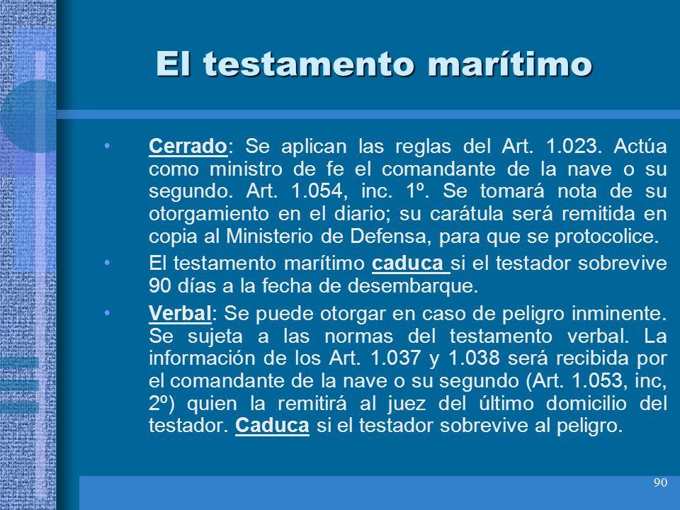 El testamento marítimo