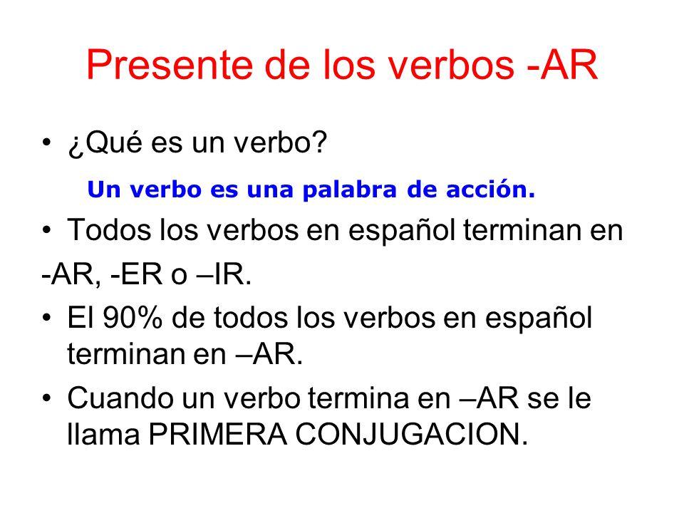 Presente de los verbos -AR