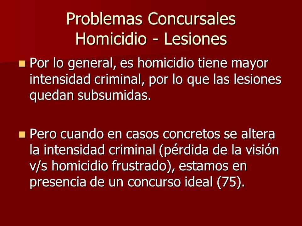 Problemas Concursales Homicidio - Lesiones