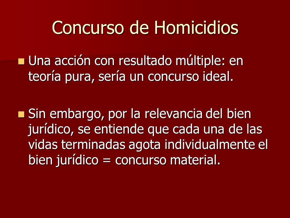 Concurso de Homicidios